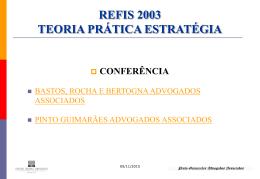 refis 2003 teoria prática estratégia