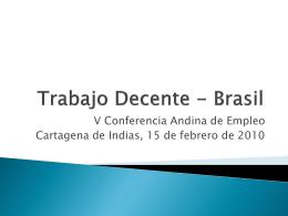 Trabajo Decente - Brasil