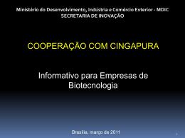 ações em biotecnologia - Ministério do Desenvolvimento, Indústria e