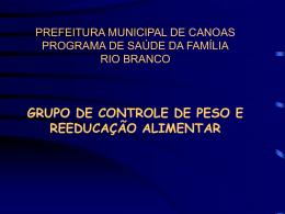 Grupo de Controle de Peso e Reeducação Alimentar
