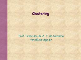Clustering - Centro de Informática da UFPE