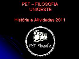 I UNIPET - Apresentação PET Fil