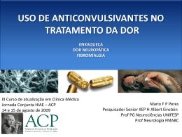 uso de anticonvulsivantes no tratamento da dor