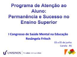 Slide 1 - III Congresso Saúde Mental na Educação