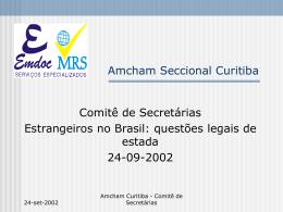 Estrangeiros no Brasil: vistos