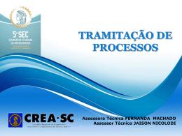 Tramitação de Processos II - CREA-SC