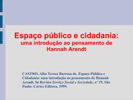 uma introdução ao pensamento de Hannah Arendt