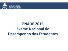 ENADE 2015 Exame Nacional de Desempenho dos Estudantes