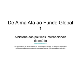 De Alma Ata ao Fundo Global 1