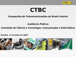 Cenário de Internet no Brasil e na CTBC
