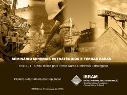 """Seminário """"Minerais Estratégicos e Terras"""