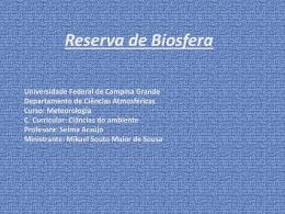 Reserva de Biosfera - Universidade Federal de Campina Grande