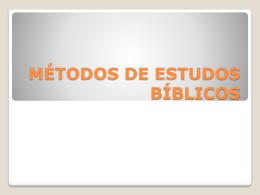 02 – métodos de estudos bíblicos