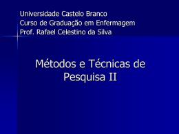 Como pesquisar? - Universidade Castelo Branco