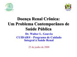 Doença Renal Crônica - Sociedade Brasileira de Nefrologia