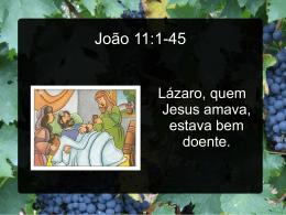 Ressurreição de Lázaro e a Videira
