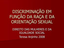 Discriminação por Orientação Sexual