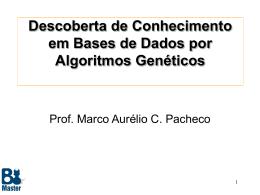 Data Mining por Algoritmos Genéticos - ICA - PUC-Rio
