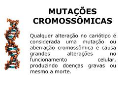 MUTAÇÕES CROMOSSÔMICAS