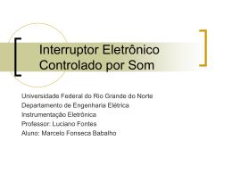 Interruptor Eletrônico Controlado por Som - DEE