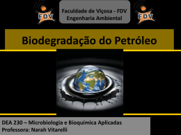 Aula 12_Biodegradacao do Petroleo