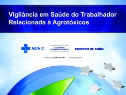 Vigilância em Saúde do Trabalhador Relacionada à Agrotóxicos