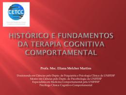 Histórico e Fundamentos da Terapia Cognitivo