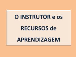 Aula_3_O instrutor e os recursos de aprendizagem