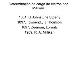Determinação da carga do elétron por Millikan