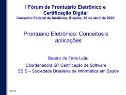 Registro Eletrônico em Saúde - Conselho Federal de Medicina