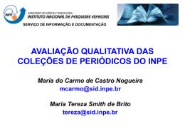 avaliação qualitativa das coleções de periódicos do inpe - mtc