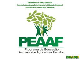 Boas Práticas em Educação Ambiental na Agricultura Familiar