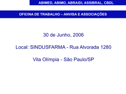 ABIMED, ABIMO, ABRAID, ASSIBRAL, CBDL