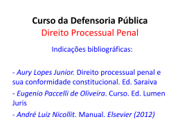 Curso da Defensoria Pública Direito Processual Penal