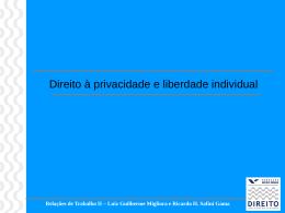Privacidade e Liberdade Individual