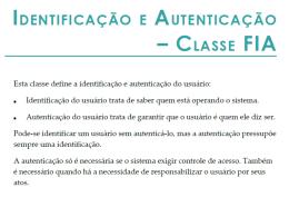 3.1 Autenticação Classe FIA