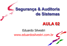 POLSEG-Aula02 - 148 Kb - Professor Eduardo Silvestri