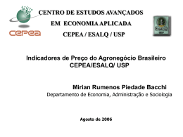 Indicadores de preço do agronegócio brasileiro