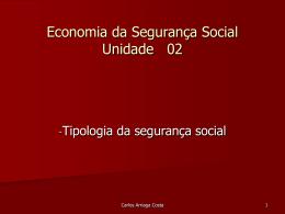 Tipologia da segurança social