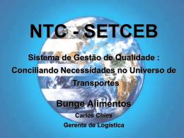 Bunge no Brasil - NTC & Logística