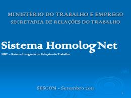 Sistema HomologNet