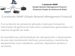 O protocolo SNMP (Simple Network Management