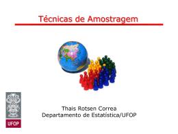 Tecnicas de Amostragem - ICEB-UFOP