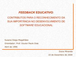 Feedback educativo: contributos para o reconhecimento da sua