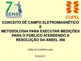Conceito de Campo Eletromagnético e Metodologia para Executar