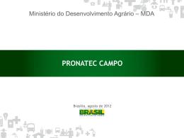 Apresentação PRONATEC CAMPO
