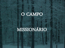 O CAMPO MISSIONÁRIO - Global Training Resources