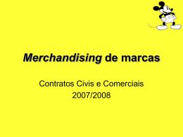 Merchandising de marcas - Faculdade de Direito da UNL
