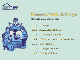 Elementos gerais de liturgia