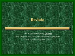 Revisão - Ricardo Gonçalves Quintão